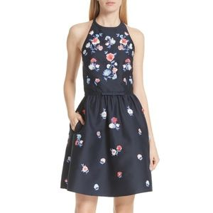 Kate Spade embroidered fit and flare dress